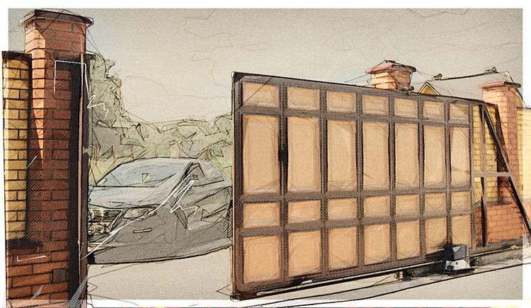 Откатные ворота – оптимальная конструкция для частного участка, которую можно установить своими руками