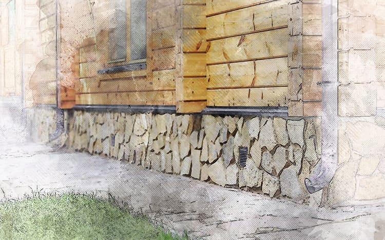 Отлив поможет защитить цоколь и придаст фундаменту законченный внешний вид