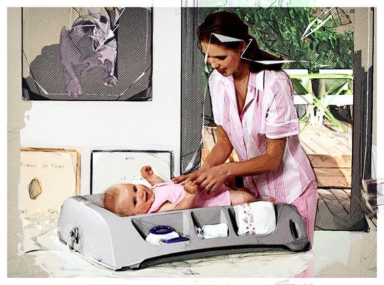 Пеленатор – удобная конструкция, которая значительно облегчит переодевание малыша.