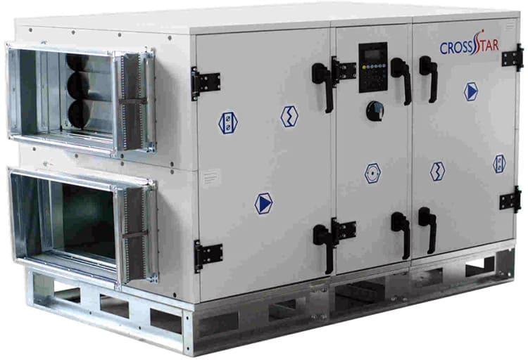 Внешний промышленный вентилятор с рекуператором для систем вентиляции