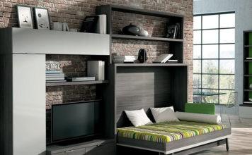 Кровать-комод в однокомнатной квартире: неожиданные решения