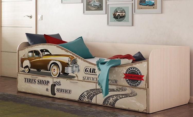 Фасады кровати-комода с фотопечатью