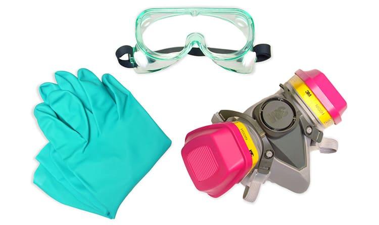 Средства индивидуальной защиты, используемые при покраске