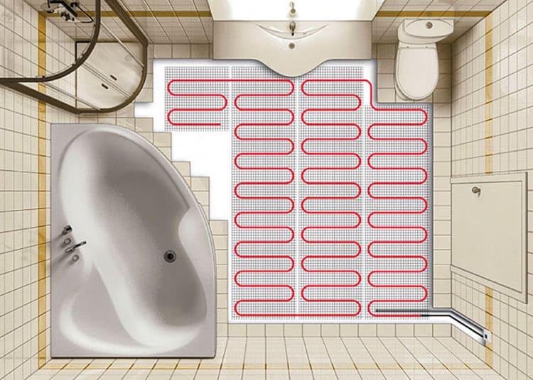 Электрический тёплый пол обеспечивает оперативный нагрев плитки