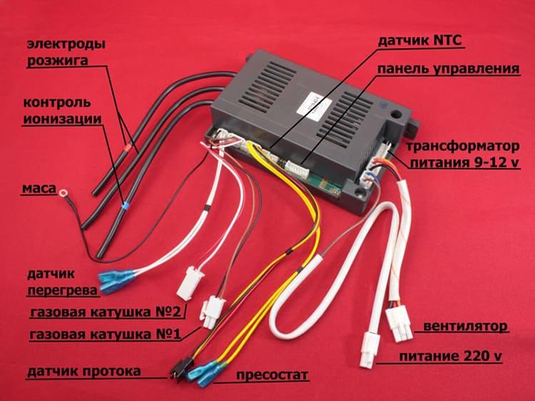 Контроллер электронного управления газовой колонки с интерфейсом подключения периферийного оборудования