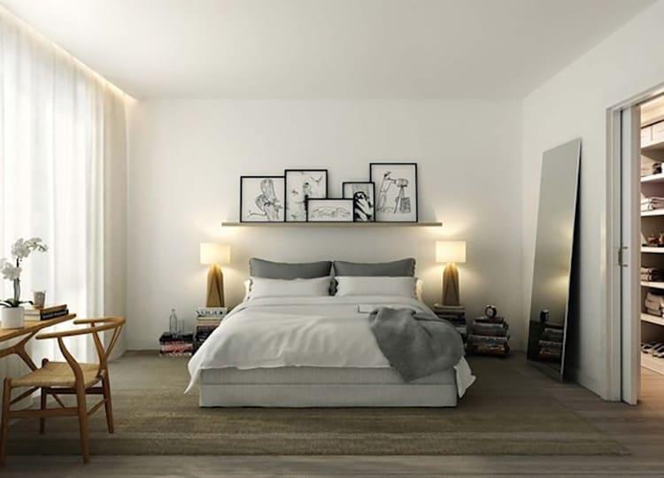 Бежевые цвета сделают интерьер спальни более тёплым