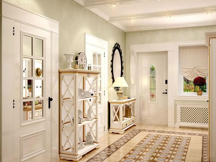 В прихожих удачно располагают этажерки, на которых удобно кинуть ключи, положить шляпу или оставить срочную записку.