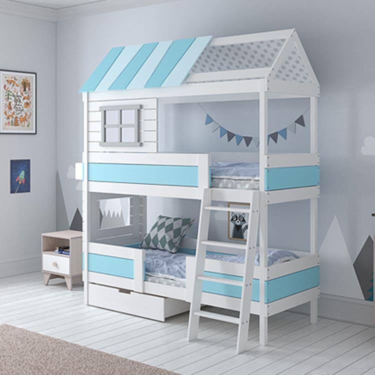 Двухъярусная кровать-домик для детей