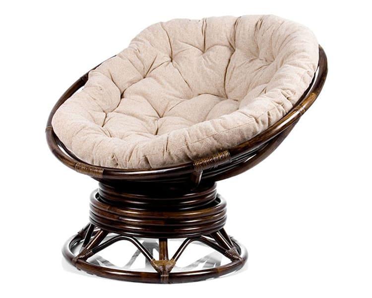 Плетеное кресло с качением пружинного типа