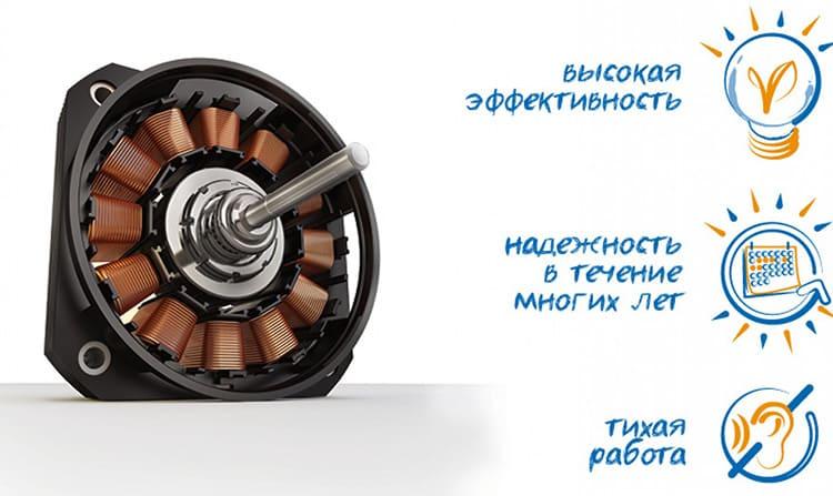 Инверторный двигатель создаёт минимум шума