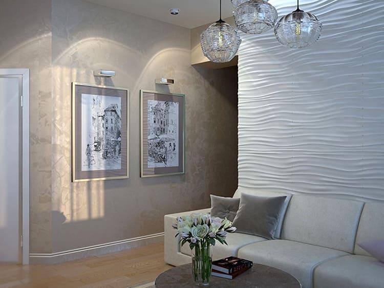 Такие фактурные смеси обычно распределяют по поверхности стены сплошным слоем или декорируют зубчатым шпателем