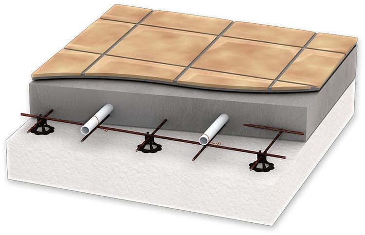 Схема расположения отопительного контура под плиткой выбирается индивидуально