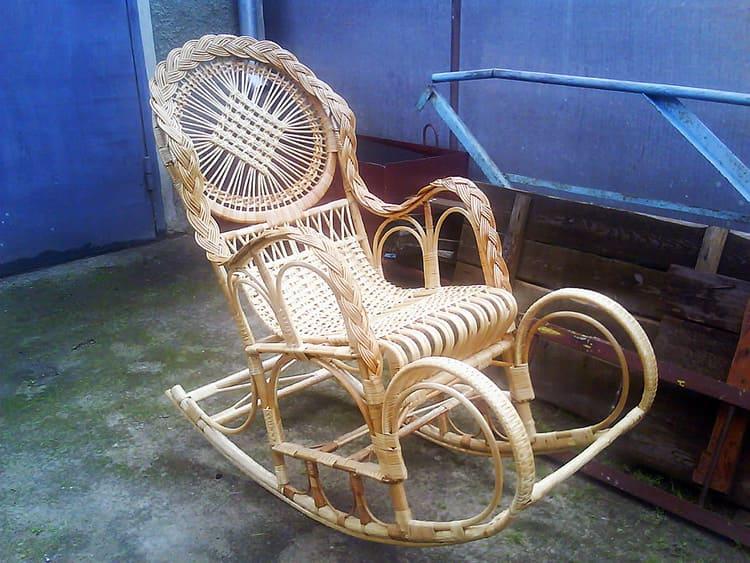Плетёное своими руками кресло-качалка