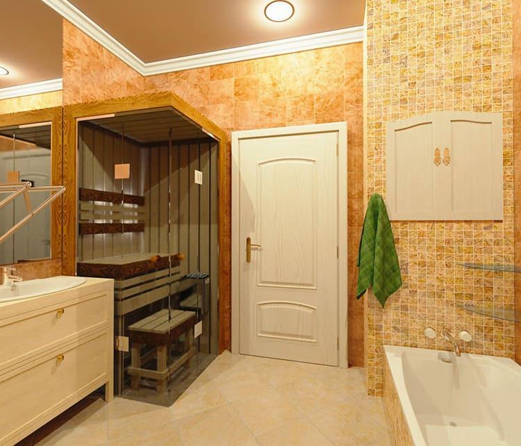Сауна от русской бани отличается отсутствием большой влажности и более высокой температурой воздуха внутри парной
