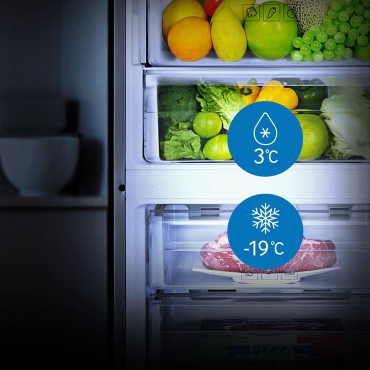 Оптимальная температура в морозилке -18°С, что является средней величиной для всех моделей холодильных агрегатов.