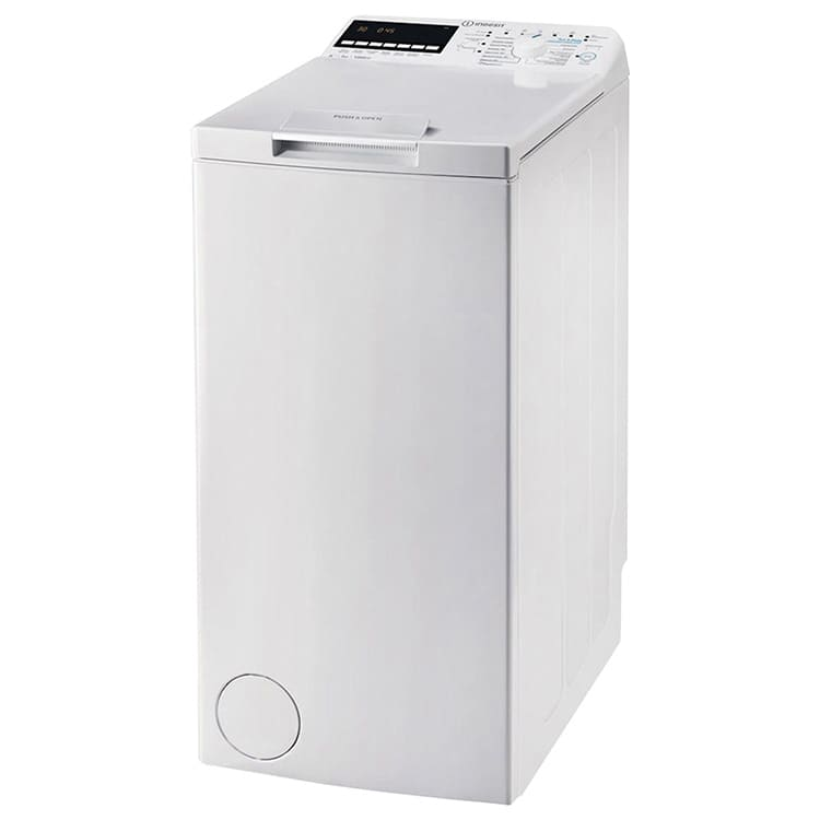 Изделия с вертикальной загрузкой могут устанавливаться в небольших ванных комнатах