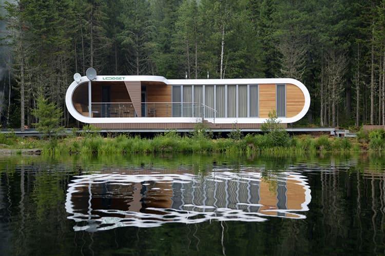 Установив на берегу озера несколько Lodget, можно организовать летнюю базу отдыха