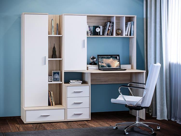 Компьютерный стол с надстройкой и пеналом