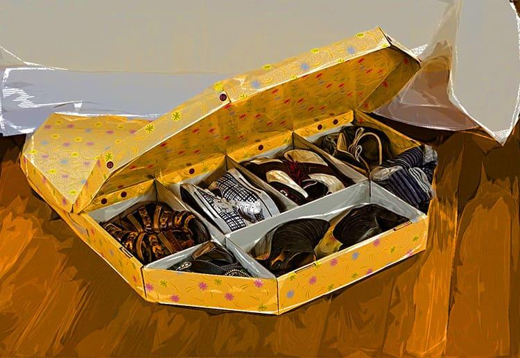 Коробки и ящики дадут возможность компактно и удобно хранить сезонные пары.