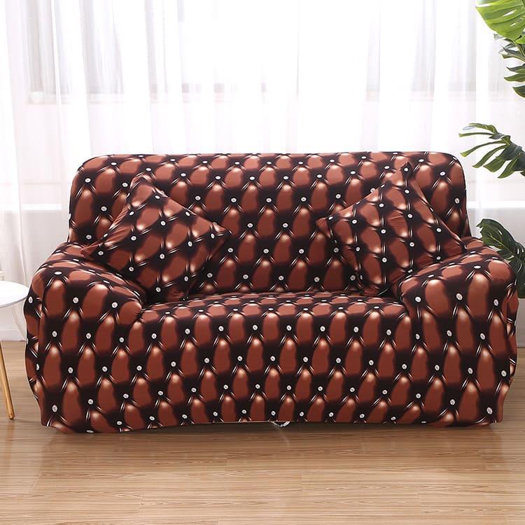 Этот эластичный чехол легко натягивается на диван любой конфигурации.