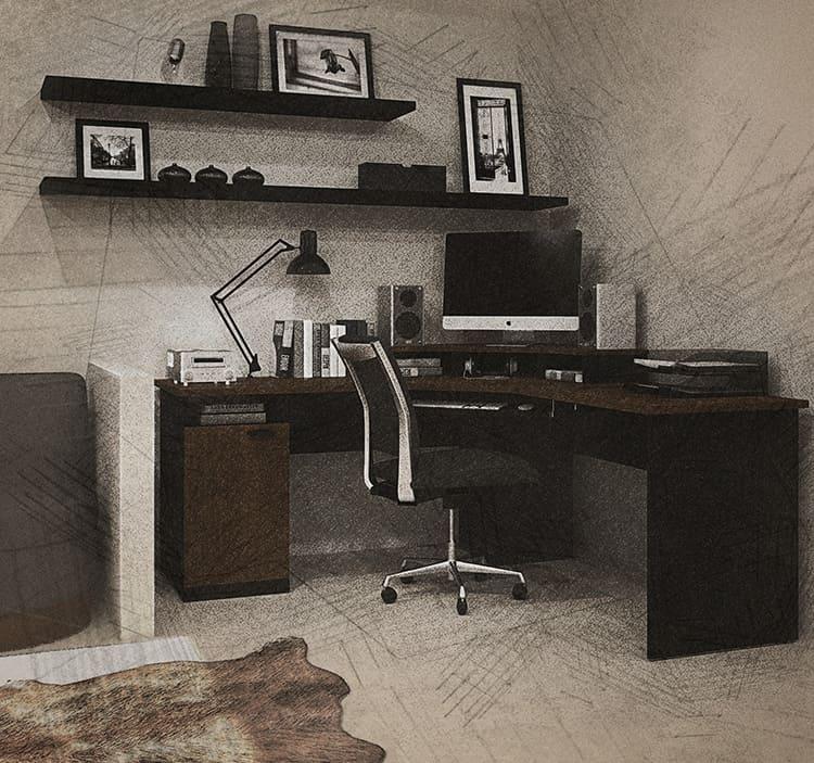 Угловой компьютерный стол более комфортен для работы
