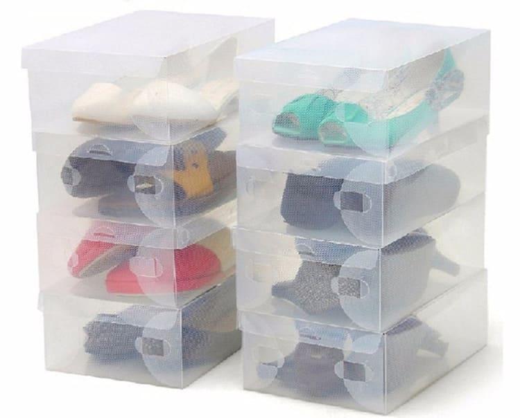 Универсальный вариант для хранения – прозрачная вентилируемая коробка.