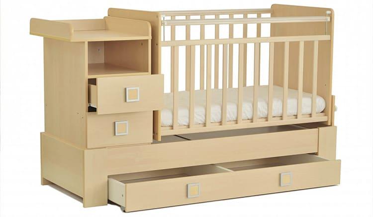 Модельный ряд детских кроваток-трансформеров достаточно широк