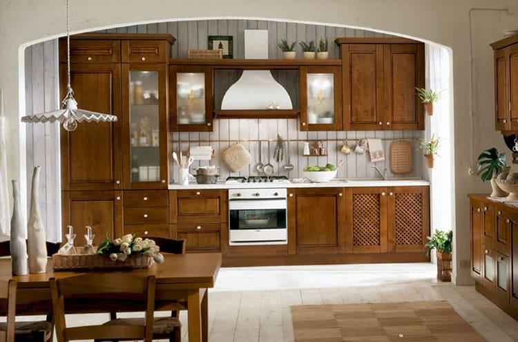 Рейлинговая система в классической кухне