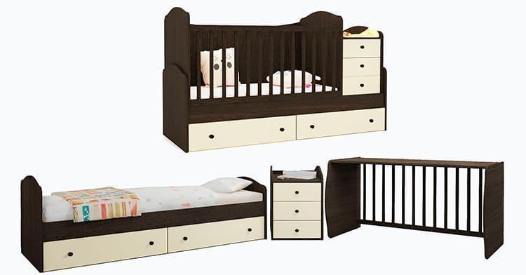 Многофункциональность – основное достоинство детских кроватей-трансформеров