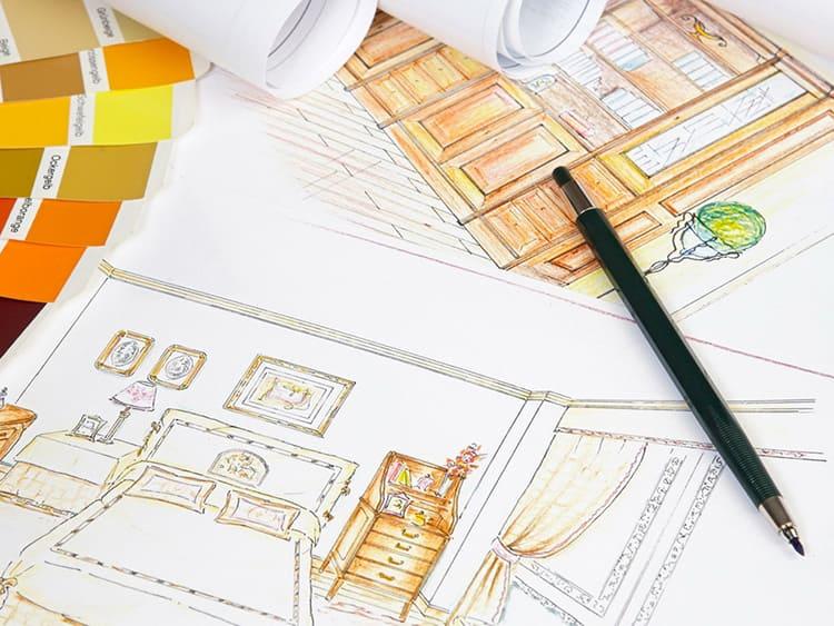 При самостоятельном создании дизайн-проекта начинать нужно не с эскизов