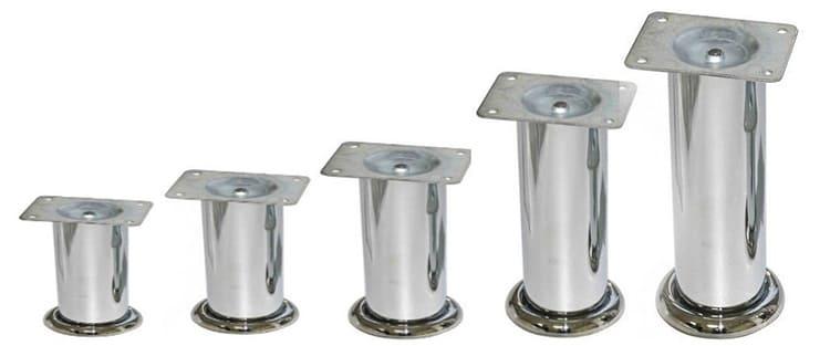 Мебельные опоры из хромированного металла