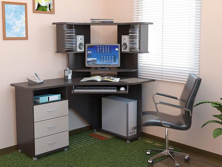 Надстройка позволяет разместить монитор и другое оборудование без ущерба для рабочей площади столешницы