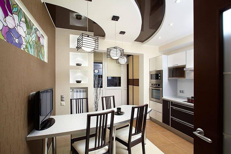Двухуровневые натяжные потолки: современные вариации и типы конструкций