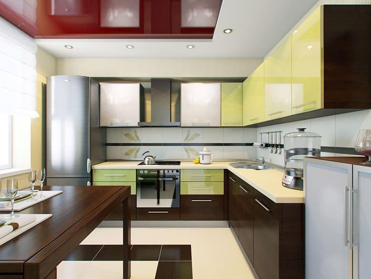 Пластиковые кухни различаются по материалу, используемому для изготовления фасадов