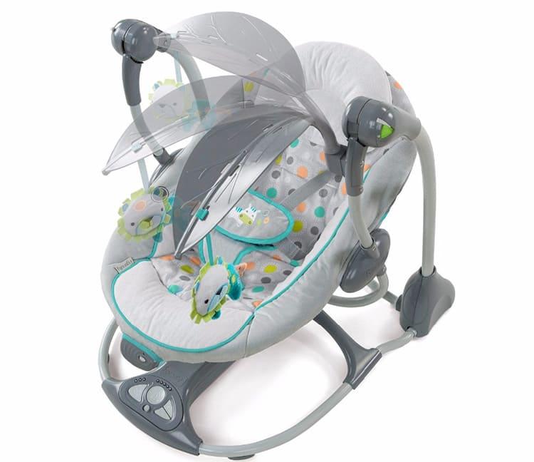 Специальный блок обеспечит необходимый темп качания новорождённого.