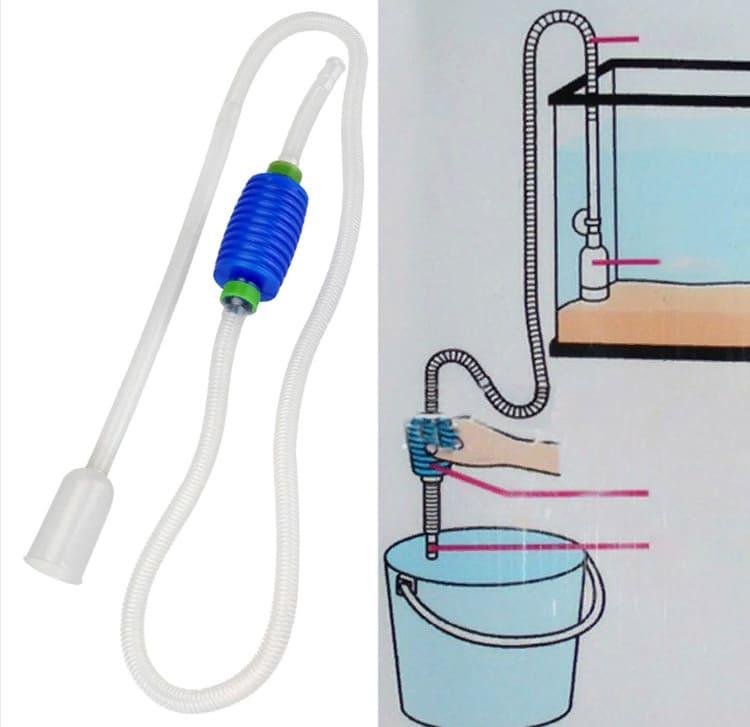 Вакуумный фильтр поможет избавиться от мусора на поверхности воды, быстро почистить воду в аквариуме.
