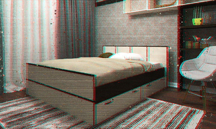 Ящики под кроватью весьма вместительны