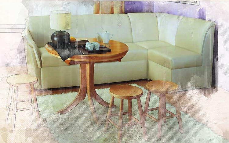 Раскладной диван-уголок со спальным местом на кухне – не только дополнительные места для гостей, но и украшение интерьера