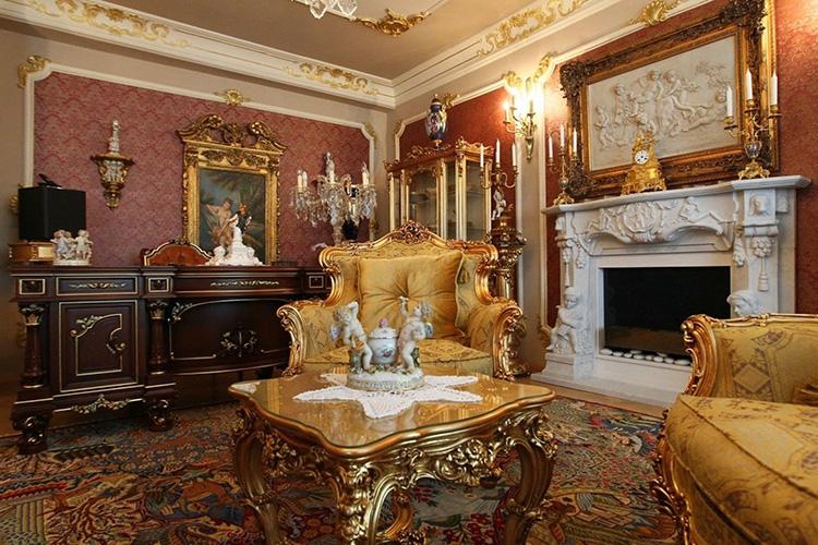 Роскошная гостиная – заявление о достатке и высоком статусе владельца