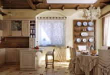 Кухня в стиле кантри как островок деревенской простоты