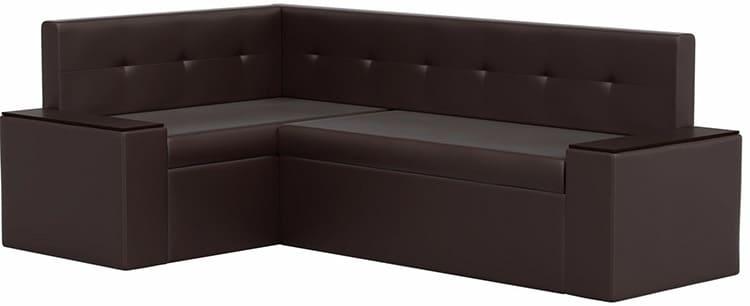 Можно недорого купить на кухню диван со спальным местом с обивкой из экокожи