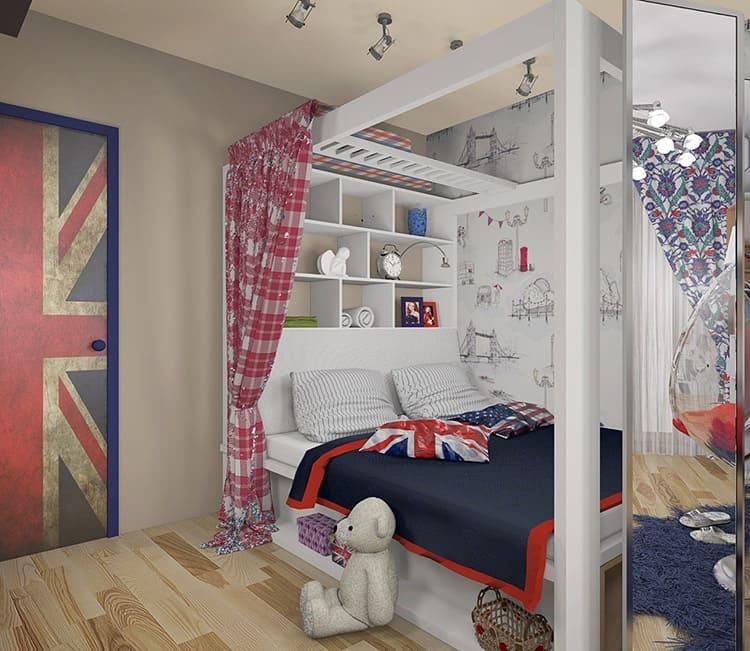 Дизайн комнаты для девочки подростка 14 лет и старше может включать в себя взрослую мебель