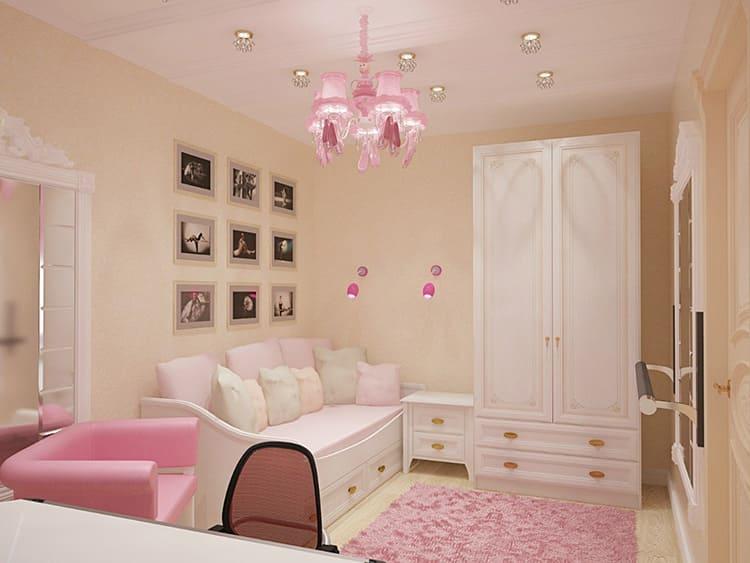 Розовый и белый – синоним нежности и лёгкости. В гармонии с этими цветами отлично выглядит натуральный бежевый и цвет светлого дерева