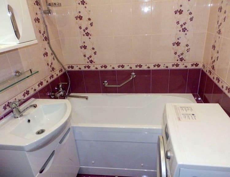 Фото ремонта ванной комнаты в «хрущёвке»