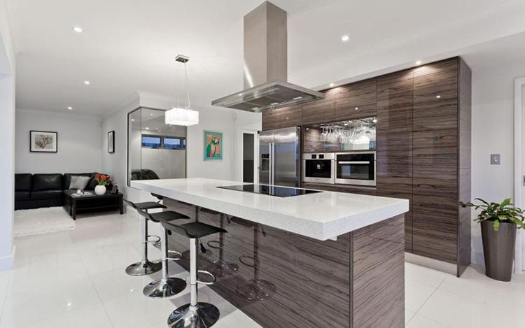 Интерьер кухни-гостиной в минималистическом стиле 2018 год