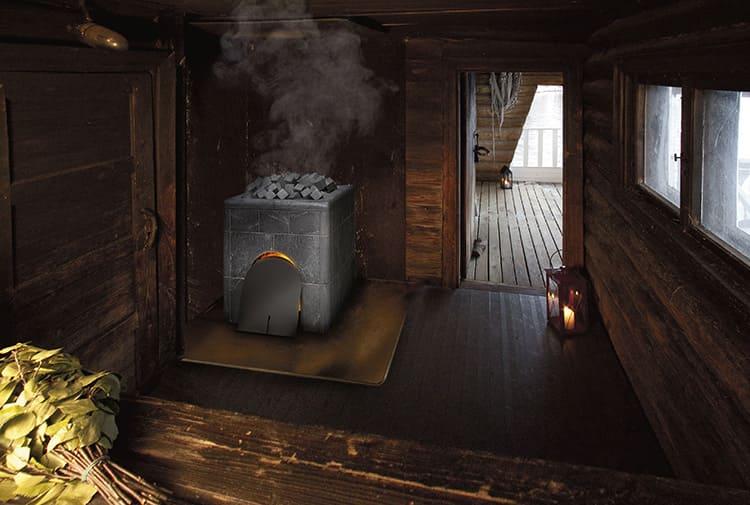 Когда топите баню, оставьте дверь в парилку немного приоткрытой для доступа воздуха