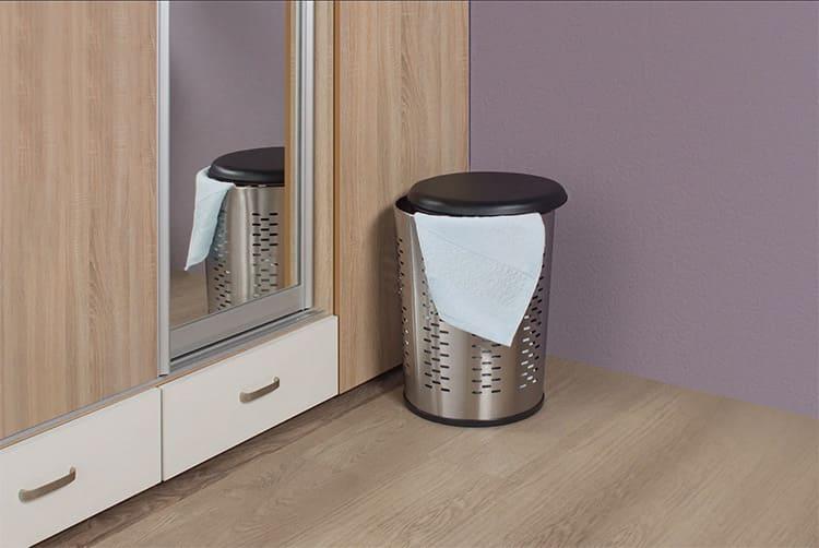 Металлические корзины имеет смысл приобретать только в том случае, если этого требует дизайн вашего интерьера