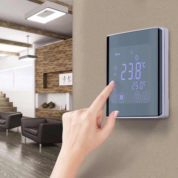 Терморегулятор поможет задать температуру напольного покрытия