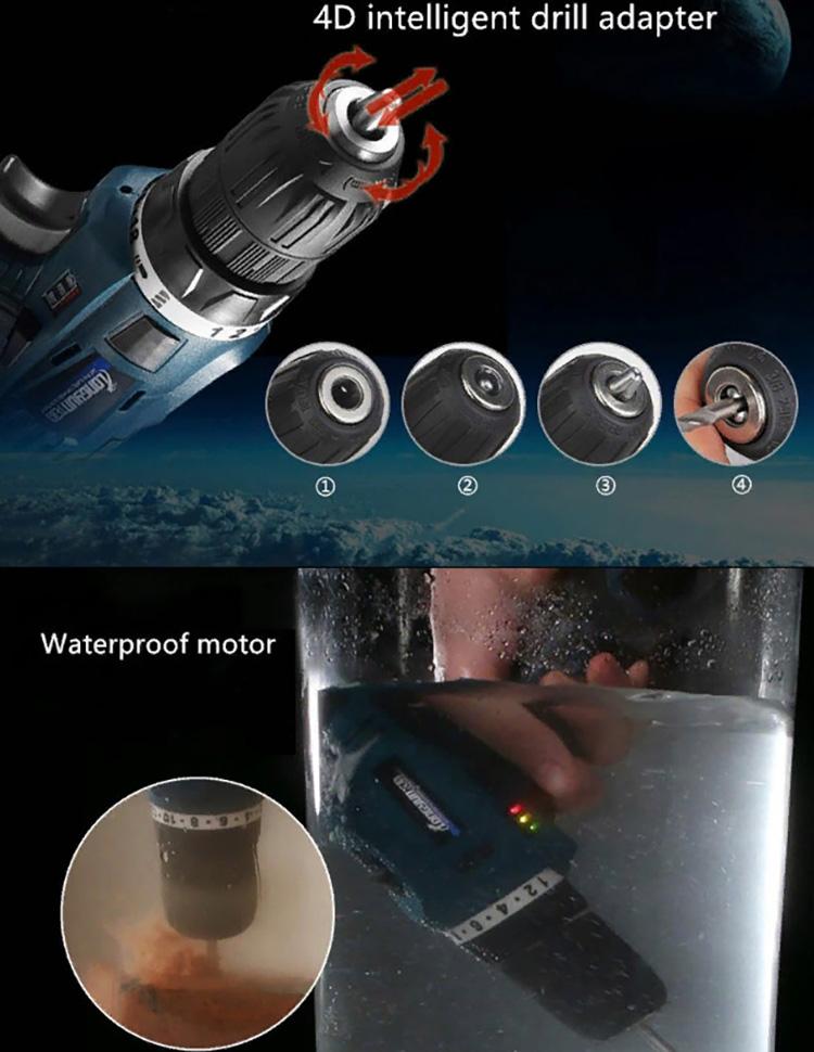 С этим шуруповёртом вы сможете работать в любых условиях, даже под водой