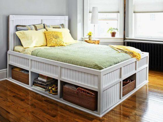 Нет места для шкафа: кровать с ящиками поможет выйти из ситуации
